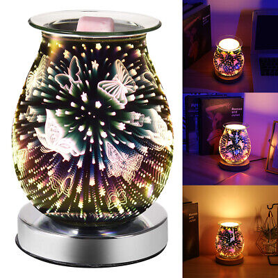 £10.28 • Buy 3D Glass Electric Firework Oil Wax Melt Burner Home Fragrance Aroma Touch Lamp