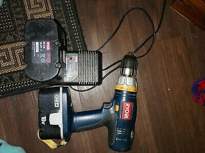 £10 • Buy Ryobi One Drill, Two Batteries And A Charger, Spare And Repairs Not Working