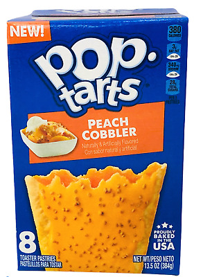 £3.87 • Buy Kellogg's Pop Tarts Frosted Peach Cobbler Toaster Pastries 13.5 Oz