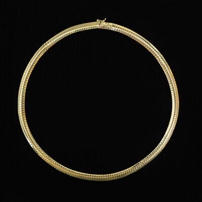 £962.85 • Buy SOLID 14K YELLOW GOLD FLAT SNAKE CHAIN 24gm 16 INCH 5.7mm HERRINGBONE NECKLACE