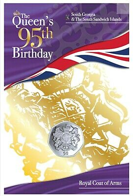 £8.10 • Buy NEW  50 PENCE 2021 SGA The Queens 95th Birthday: Royal Coat Of Arms.