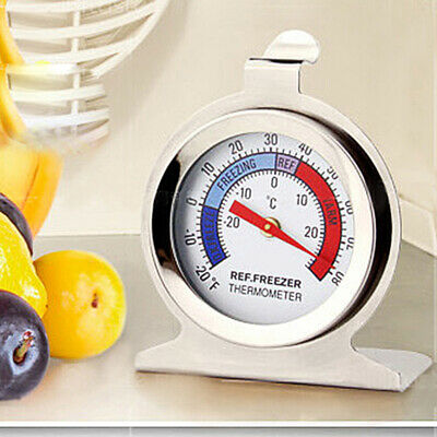 AU9.59 • Buy Stainless Steel Fridge Freezer Thermometer Large Dial Kitchen Food Temperature