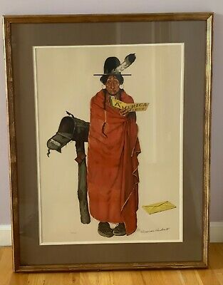 $ CDN2506.55 • Buy Norman Rockwell  See America First  61/200 Original Signed Lithograph Water Mark