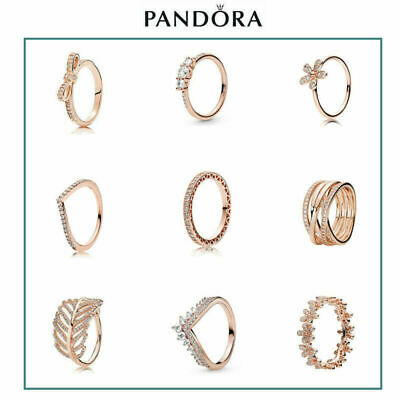AU18.99 • Buy New Genuine Pandora Rose Gold Ring S925 ALE + Jewelry Pouch