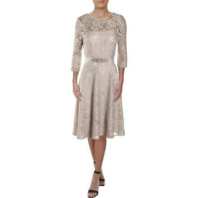 £6.36 • Buy Jessica Howard Womens Beige Lace Embellished Party Cocktail Dress 6  8226