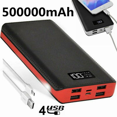 AU26.99 • Buy Portable 500000mAh Power Bank Charger Backup Pack Battery 4USB For Mobile Phone