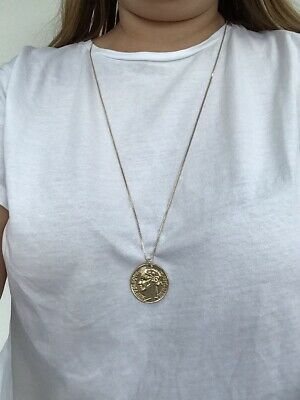 £4 • Buy Gold Plated Long Coin Necklace