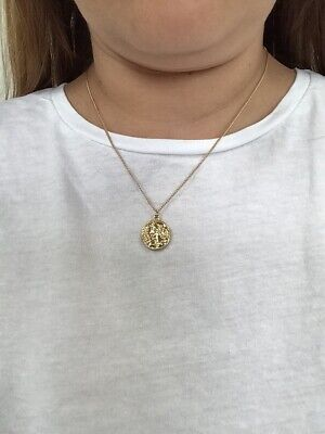 £3.50 • Buy Gold Plated Coin Necklace With Extension Chain