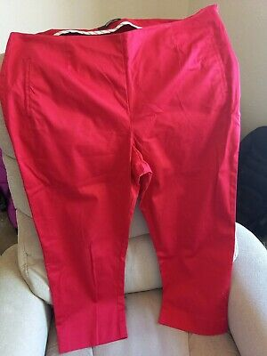 £5.90 • Buy MARKS & SPENCER M&S Red Cropped Trousers Size 16 M
