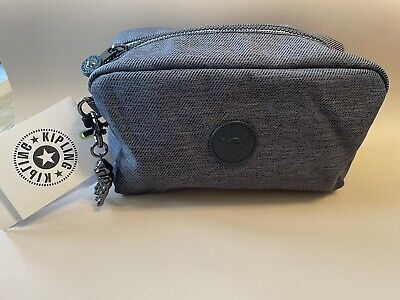 £15 • Buy Kipling Toiletry Bag GLEAM Medium Multi Use Pouch Charcoal  New Tags