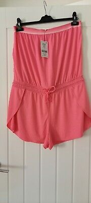 £9.99 • Buy Next Size 14 Bandeau Playsuit Pink New Tags 24.00