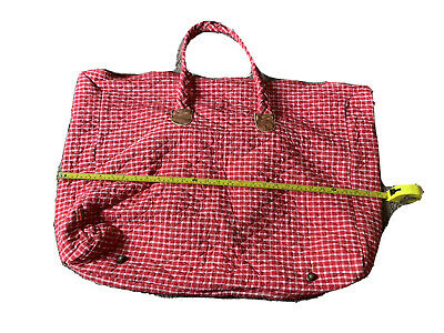 £5.68 • Buy OILILY Red Gingham Plaid Purse Shoulder Bag Shopper Tote Vintage From 90s