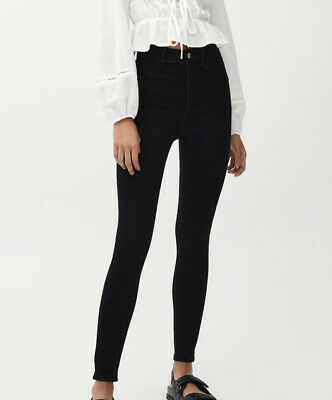 £8 • Buy Pull And Bear High Waist Skinny Jeans Black Size 14