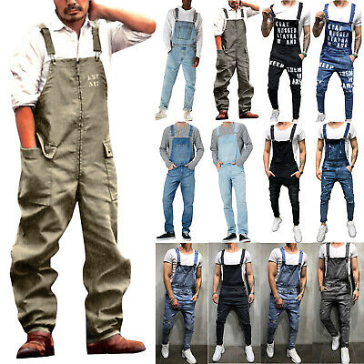 $35.52 • Buy Mens Fashion Pocket Pants Truck Drawstring Overall Work Casual Cargo Trousers