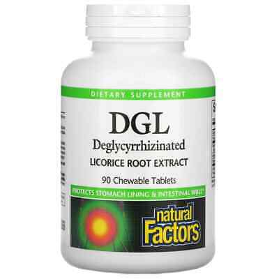 £13.99 • Buy Natural Factors DGL Deglycyrrhizinated Licorice Root Extract 90 Chewable Tablets