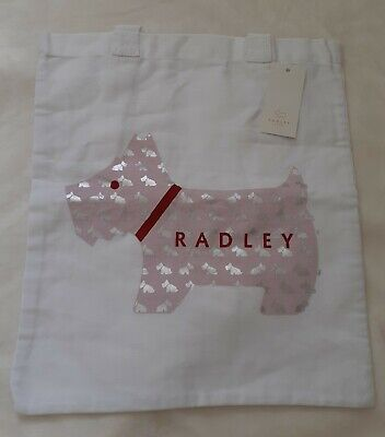 AU8.67 • Buy Radley White Cotton Tote Bag, Unwanted Gift, Never Used