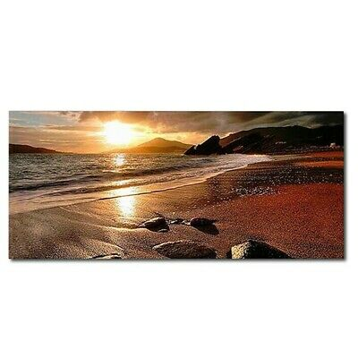 £8.14 • Buy Sunset Beach Landscape Wall Art Canvas Posters And Prints Modern Wall Pictures
