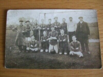 £5 • Buy RP Postcard Football Team Early 1900s? Flat Caps Pipe
