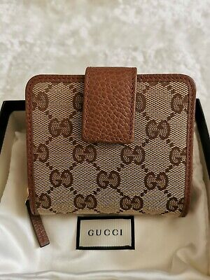 AU477.82 • Buy Authentic Gucci GG Canvas Wallet - Brown - Brand New