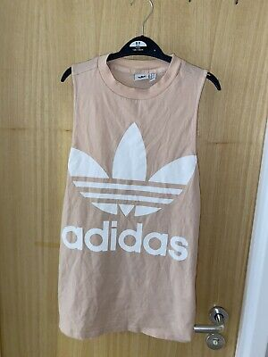 £6.20 • Buy Pink/white Adidas Workout/exercise Tank Top, Oversized, High Neck