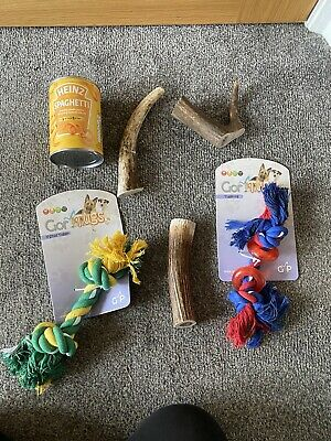 £3 • Buy Dog Rope Toy Horn Chew Toy Antler
