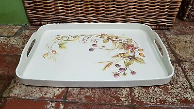 £9.99 • Buy Marks Spencer M&s Harvest Large 16  Serving Tray Thick Melamine With Handles