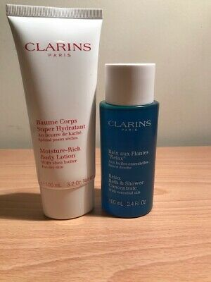 £19.65 • Buy CLARINS Set - Relax Bath & Shower Concentrate & Moisture Rich Bdy Lotion X 100ml