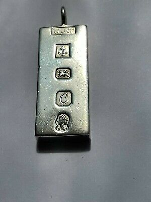 £13.75 • Buy Solid 925 Silver Ingot Bar Pendant. Weight : 30 G Length : 4.5 Cm. No RESERVE