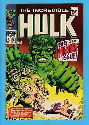 £102 • Buy INCREDIBLE HULK # 102 VFN- (7.5) SIGNED By STAN LEE- PREMIERE ISSUE- CENTS- KEY