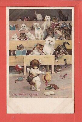 £20 • Buy LOUIS WAIN The Wrong Class Dog In Cat's Class Pub Ernest Nister P/unused