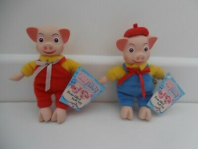 £5.99 • Buy Pinky And Perky Bean Filled Soft Toys Dolls - Original Labels 6.5
