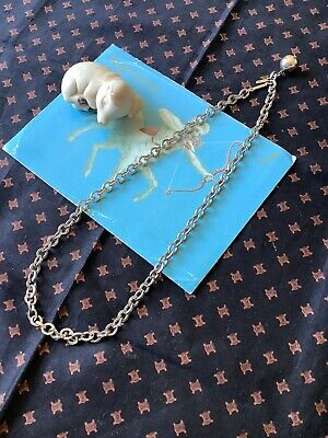 £6 • Buy Vintage Trifari Signed Silver Tone Chain Choker Necklace