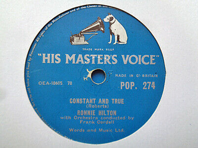 £3.99 • Buy RONNIE HILTON - Constant And True / Two Different Worlds 78 Rpm Disc (A+)