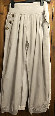 £3 • Buy Cotton Cuffed Trousers Ladies  2 Pairs Size Large