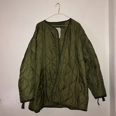 $15 • Buy Military Coat Liner, M65 Quilted Foliage Green Cold Weather Field Jacket Liner
