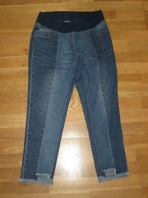 £15.99 • Buy Next Maternity Slim Slouch Under Bump Jeans Size 10 Long Leg 28 Brand New & Tags