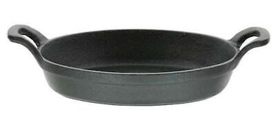 £12.49 • Buy Cast Iron Skillet Frying Fry Grill Griddle Oven To Table Oval Pan
