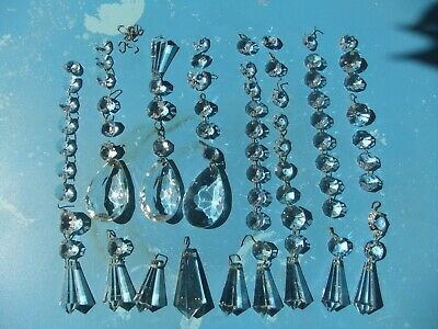 £15 • Buy Assorted Vintage Crystal Glass Chandelier Drops Some Large Spares Replacements