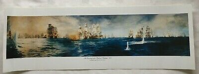 £20 • Buy 'Panorama Of The Battle Of Trafalgar' Lithographic Colour Print By W.L. Wyllie