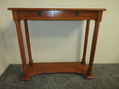 £30 • Buy Hall Console Table Vintage Reproduction With 2 Drawers