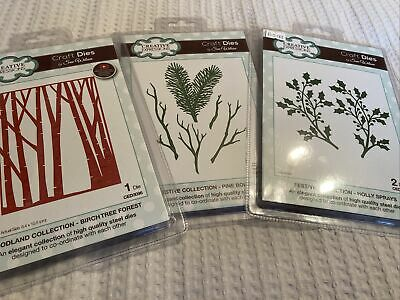 £11.95 • Buy Bundle Christmas Creative Expressions Cutting Dies Set C3. Forest, Holly, Pine