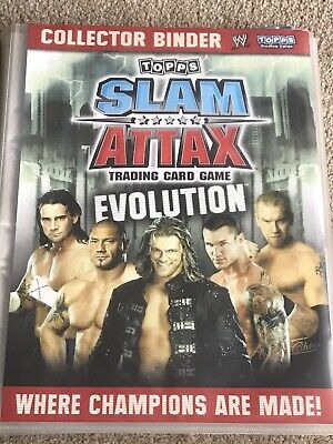 £14.99 • Buy 109 2009 WWE Slam Attax Evolution Cards In Collector Binder Topps Trading Cards