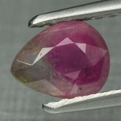 $0.99 • Buy 0.71ct 6.2x5mm Pear Natural Party Color Tourmaline Unheated Mozambique