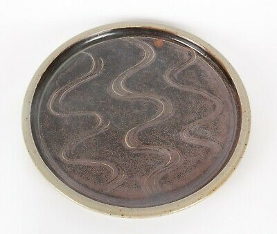 £6 • Buy Ray Finch Personal Mark Winchcombe Studio Pottery 30cm Plate Combed Decoration