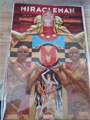 £11 • Buy Miracleman #1 (Marvel) Signed By D'Israeli And Mark Buckingham - VGC