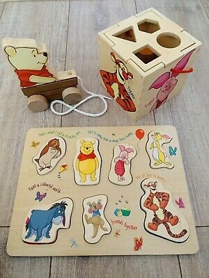 £12 • Buy Wooden Baby Toys Winnie The Pooh Puzzle Shape Sorter