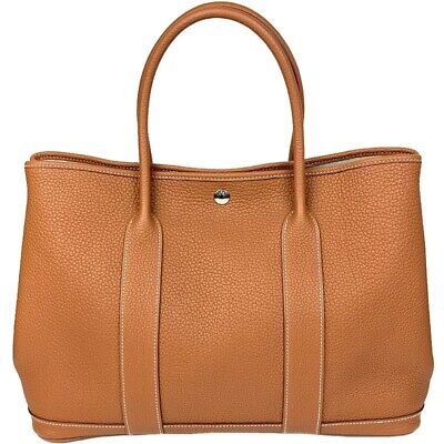 $5484.31 • Buy Hermes Garden Party Mm Negonda Increments Gold Silver Fittings Tote Bag Women 'S