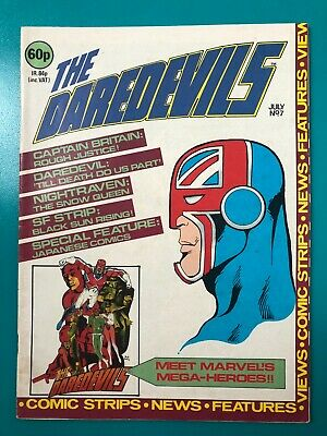 £69.95 • Buy The Daredevils #7 Captain Britain Miracleman Alan Moore 1983 1st Earth 616