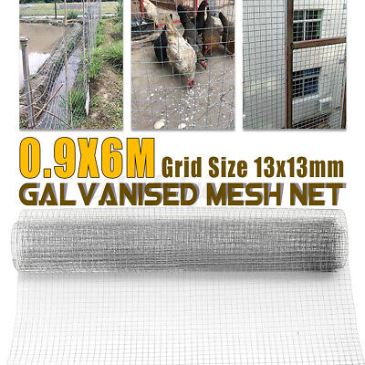 £22.55 • Buy 13mm Galvanised Mesh Net Chicken Wire Poultry Aviary Fence Garden DIY Farm Roll