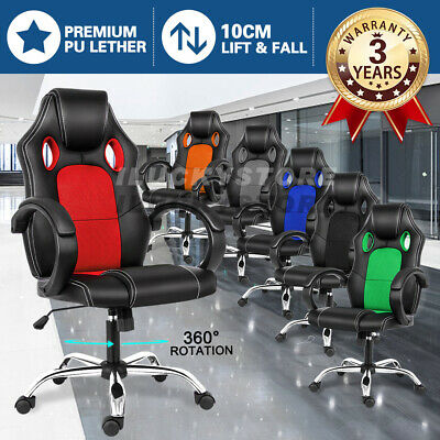 AU88.90 • Buy Office Chair Gaming Chair Computer Executive Chairs Racing Racer Seating